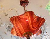 Blown Glass Chandelier - Glass Lighting - Glass Lamp -  Hand Blown