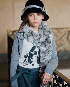 Byblos fur pom scarf