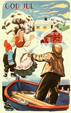 Julekort Thorsrud utg Børrehaug og Remen 1940-tallet
