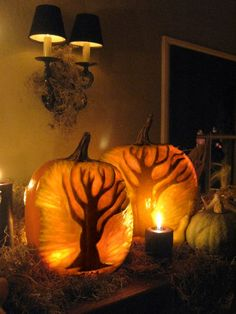 Carved pumpkins---how did they do this.....