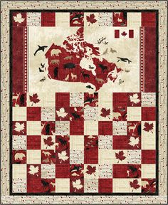 Love this Canada quilt! Canadian Quilts, Canadian Art, Flag Quilt, Boy Quilts, Quilting Projects, Quilting Designs, Quilting Patterns, Quilting Ideas, Paper Piecing
