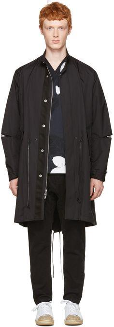 3.1 PHILLIP LIM Black Fish-Tail Coat. #3.1philliplim #cloth #coat