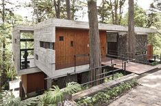 Sustainable architecture. It will need very little upkeep and remain very neat looking. The materials are sustainable and good-looking.
