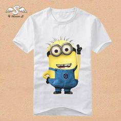 bbeafcb1 2015 Summer Style Cotton Children ᗚ Minions T-Shirts Kids Clothing Tees ₩  Baby Boy Girl Cartoon Tops Kids Minion T shirt 2015 Summer Style Cotton  Children ...