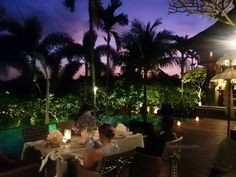 #Bali sunset dinner at @TheKayanaBali's poolside Indonesia restaurant The Dauh. They served delicious balinese food that worth to try