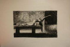 Equilibrio dei corpi.rielaborazione di una serie di scatti del fotografo Michel Pilòn.  supporto cartoncino formato 50x70