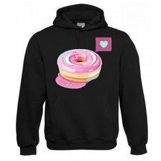 "Kapuzen Sweatshirt ""Lovely Donut"" Fruit of the Loom, Beuteltasche, 80% Baumwolle"
