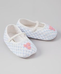 Look what I found on #zulily! Blue & Pink Smocked Flower Booties #zulilyfinds