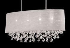 """New 4 Lamp Drum Shade Crystal Chandelier Pendant Ceiling Light Lighting Dia 36""""  #Contemporary"""