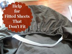 Help For Fitted Sheets That Don't Fit