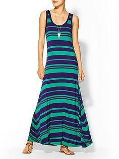 Calvin Klein Multi Stripe Tank Maxi Dress | Piperlime