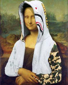 "#hypeaf: ""Bape Lisa"" by @georgerollo. by hypebeast"