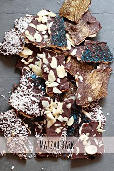 Matzah Bark- An easy dessert for Passover! Can be made Pareve and Vegan! Oooh, I love matzah bark! Jewish Desserts, Passover Desserts, Passover Recipes, Jewish Recipes, Easy Desserts, Passover Food, Dessert Recipes, Feast Of Unleavened Bread, Kosher Recipes