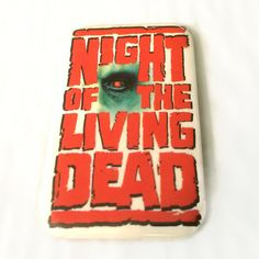 Night of the Living Dead Vintage pinback button 1990 Columbia Pictures pin movie memorabilia by ThriftyTheresa