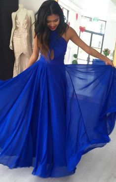 2018 Prom Dress, Long Prom Dress, Royal Blue Prom Dress, Sexy Royal Blue Long Evening Dress    My email: modsele.com@hotmail.com    1. Besides the picture color, you can refer to our color swatch to choose any color you want.  2. Besides stand size 2-16, we still offer free custom size, which req...