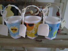 Beach Pails Set of 12 by zbrown5 on Etsy