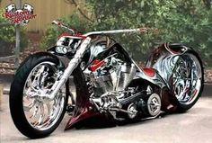 American Chopper Biker Build Off& - Jesse James& test run for a . Motos Harley, Harley Bikes, Harley Davidson Bikes, Concept Motorcycles, Cool Motorcycles, Chopper Motorcycle, Motorcycle Design, Custom Street Bikes, Custom Bikes