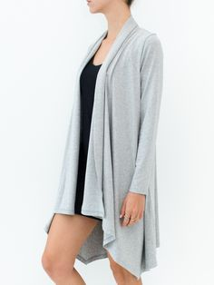 Wrapped Cardigan | CHARCOAL