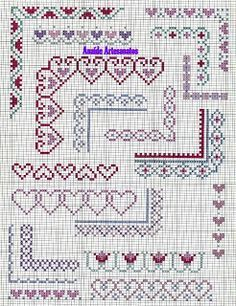 Anaide Cross Stitch: Gorgeous graphics point cross barred corner.