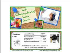 Graduation Candy Bar Wrappers Cork Board Gra-1193-WP
