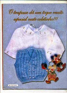 Receita de Tricô: Colete para bebê em tricô