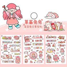 Anime Stickers, Kawaii Stickers, Cute Stickers, Disney Drawings Sketches, Cute Cartoon Drawings, Kawaii Doodles, Cute Doodles, Magic Tricks For Kids, Anime Korea