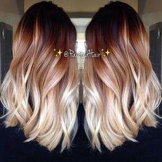 9 increíbles peinados de dos tonos para 2016 // #2016 #increíbles #para…