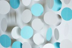 Pastel Blue Gray and White Paper Garland - DIY Garlands for 2014 Party