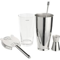 Alessi Boston Cocktail Shaker Set (1.470 DKK) ❤ liked on Polyvore featuring home, kitchen & dining, bar tools, alberto gozzi, alessi, boston cocktail shaker set, fruit strainer, boston cocktail shaker and boston shaker set