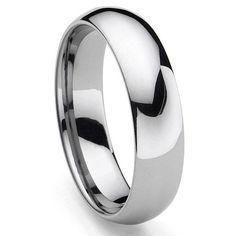 CLASSICAL Tungsten Carbide Men's Plain Dome Wedding Band