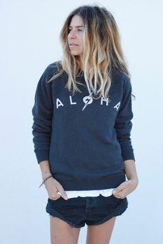 ALOHA pullover // ascotandhart.com