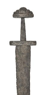 A Fine And Rare Viking Sword Of Petersen Type S And Wheeler Type III