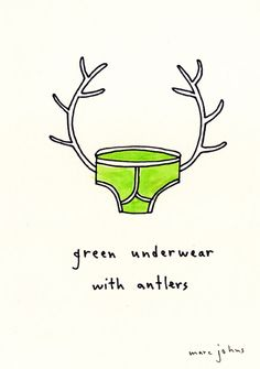 things with antlers by marc johns