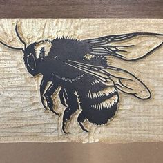 Camping Art, Stamp Carving, Carving, Linocut, Printmaking Projects, Linocut Prints, Bee Print, Doodle Paint, Ink Illustrations