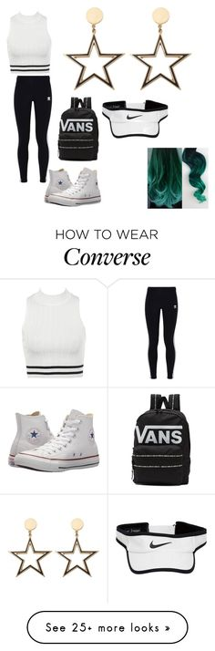 """""""sport"""" by mariaseleea on Polyvore featuring adidas Originals, Converse, Vans and NIKE"""