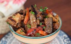 Shandong Spicy Eggplant With Peppers And Potato Recipe (Di San Xian Recipe)