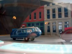 Toy version of Buckminster Fuller's Dymaxion car Photo by periphery...  [No real name given]  #BuckminsterFuller #Bucky #Dymaxion