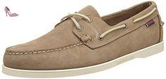 Sebago Docksides, Chaussures Bateau Homme, Beige (Dk Taupe Nubuck), 48 EU - Chaussures sebago (*Partner-Link)