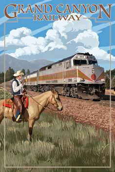 Grand Canyon Railway, Arizona - 295 Diesel - Lantern Press Poster