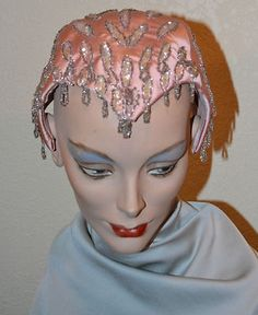 1950's Silk Beaded Hat by Designed by Patrice K | eBay