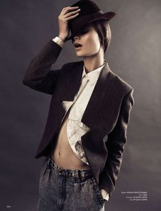 Timeless Androgynous Fashion - The Some Magazine 'Her Name is Belmondo' Editorial Stars Anna Kedzior (GALLERY)