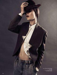 Timeless Androgynous Fashion - The Some Magazine 'Her Name is Belmondo' Editorial Stars Anna Kedzior (GALLERY)