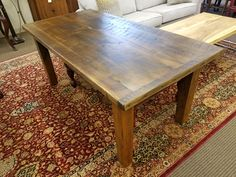 This 6 foot reclaimed barn wood farm table is just $795.