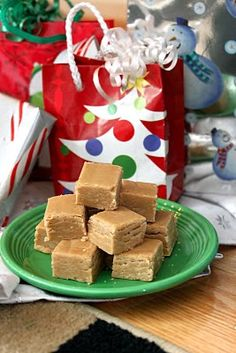 Peanut Butter Fudge: Use christmas cookie cutters to cut out pieces of fudge.