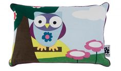 Owl pillow from Sebra Owl Pillow, Baby Kids, Kids Room, Throw Pillows, Fictional Characters, Owls, Interiors, Play, Art