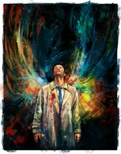 Wavelength Of Celestial Intent. Whoever created this, should know that this is my favourite fan art of Castiel.