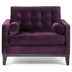 Modern Purple Velvet Chair - Overstock™ Shopping - Great Deals on Living Room Chairs