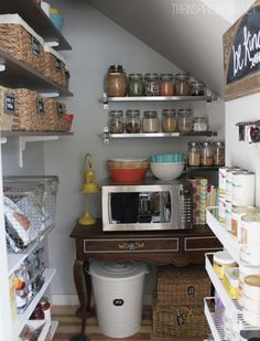 My small pantry under our staircase is one of the most organized rooms in our house! I am so excited that my pantry makeover is featured today on one of my