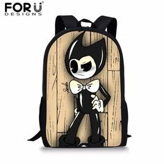 92fbbb8fee22 FORUDESIGNS Bendy and The Ink Machine Children School Bags Game Backpack  Student School Bag Book Backpack Daily Backpack Bag
