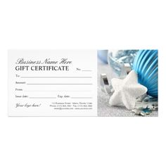 Winter Gift Certificate Template With Snowflake
